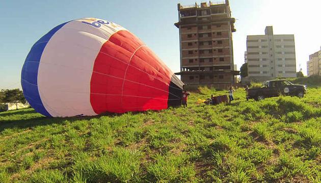 Rio Preto vista de um balão